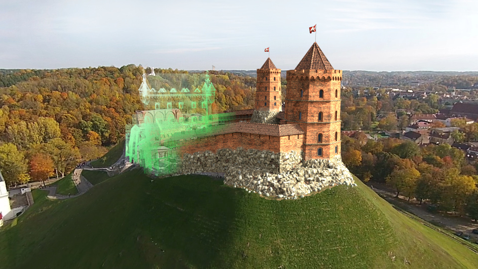 Vilnius Castle VFX - Reconstructed medieval Vilnius Castle built into real video footage